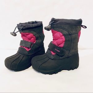 Sporto Girls Grey/Pink Toddler Snowboots